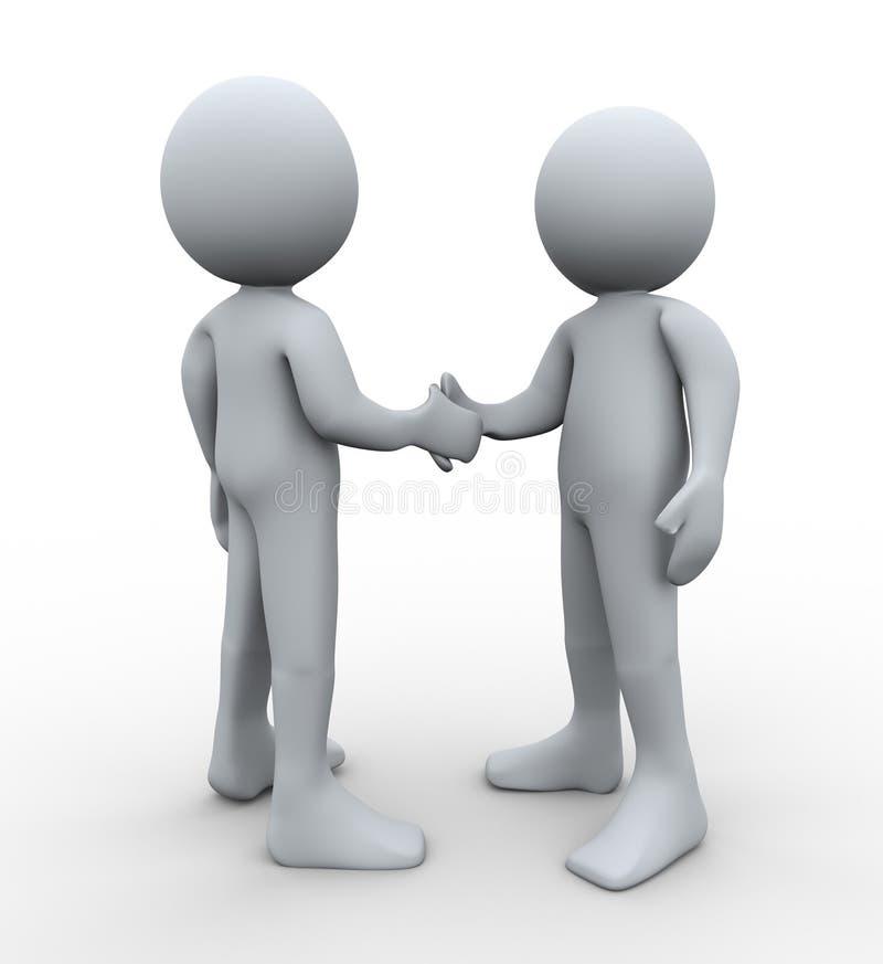 Download 3d people handshake stock illustration. Illustration of male - 26246634