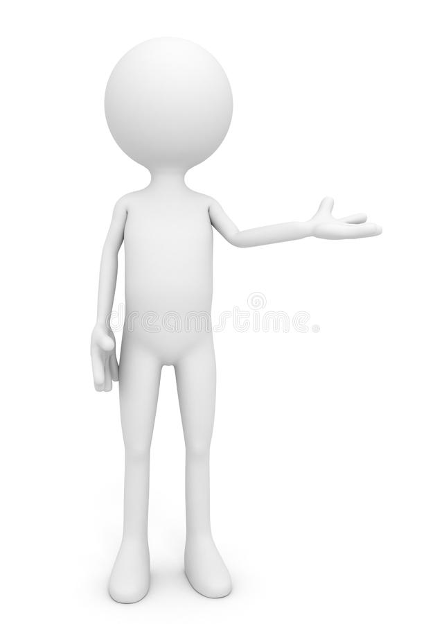 Free 3d People - Man, Person Presenting Royalty Free Stock Photo - 26893025