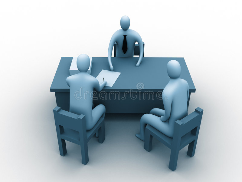 3d people in an office royalty free illustration