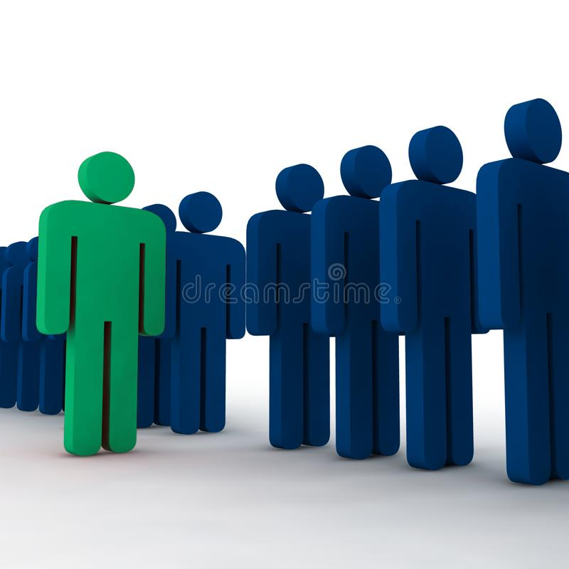3d people - outsider royalty free stock image