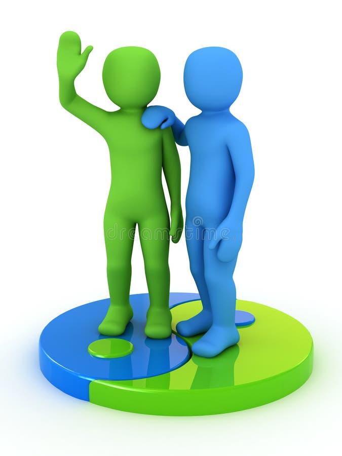 3d people partner vector illustration