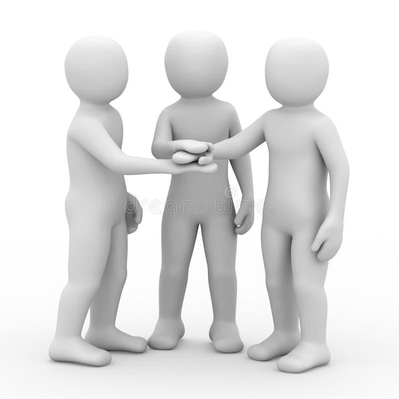 Download 3d people partner. stock illustration. Image of notions - 8430458
