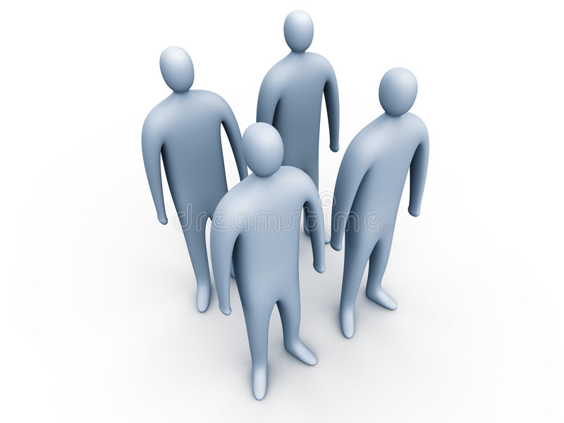 3d people standing #1 royalty free stock photo