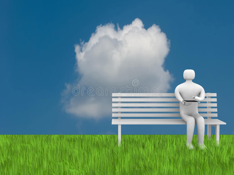 Download 3d People With Tablet Pc Stock Photo - Image: 21703440