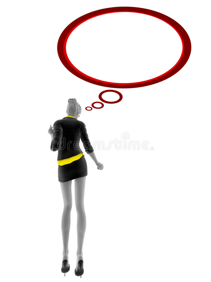 Download 3d People Woman With Speech Bubble Stock Illustration - Image: 24823905