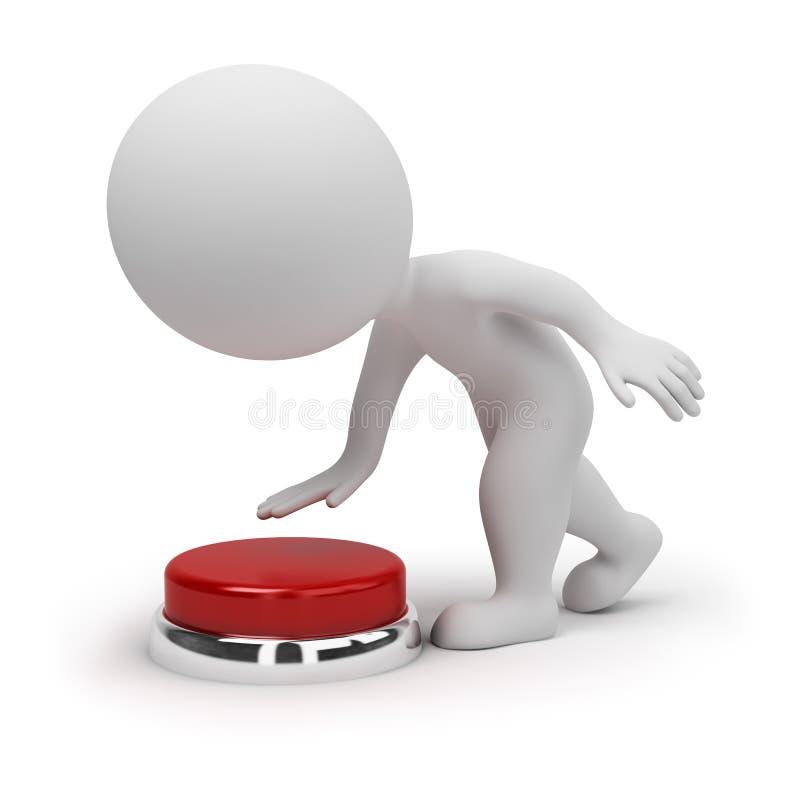 3d pequeña gente - botón stock de ilustración