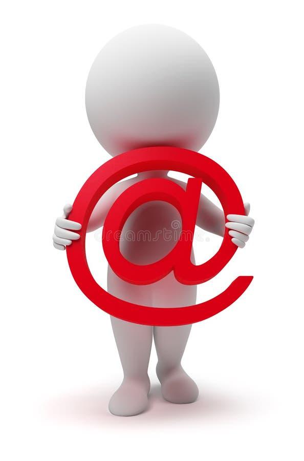 3d pequeña gente - email ilustración del vector