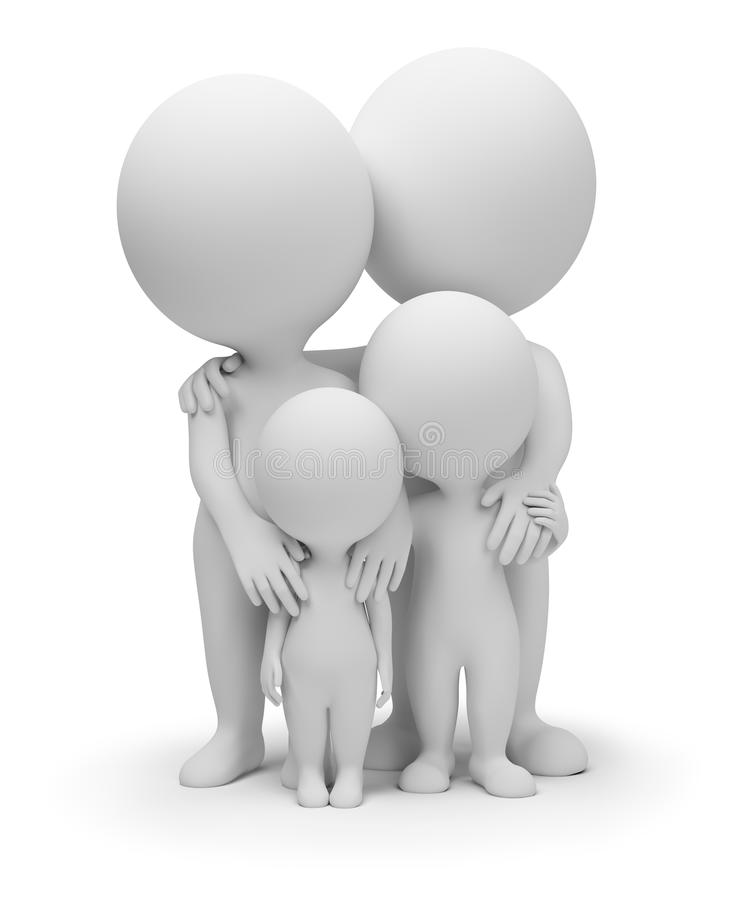 3d pequeña gente - familia libre illustration