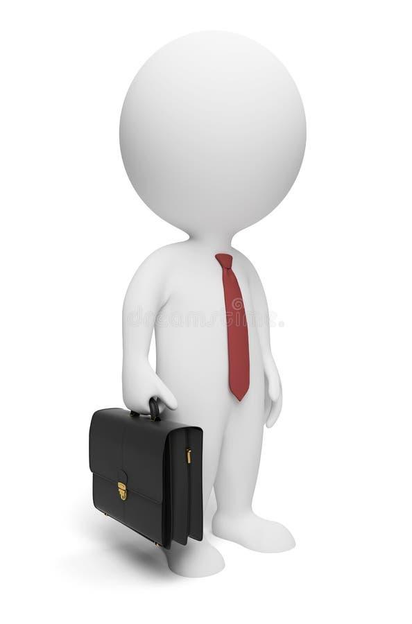 3d pequeña gente - hombre de negocios ilustración del vector