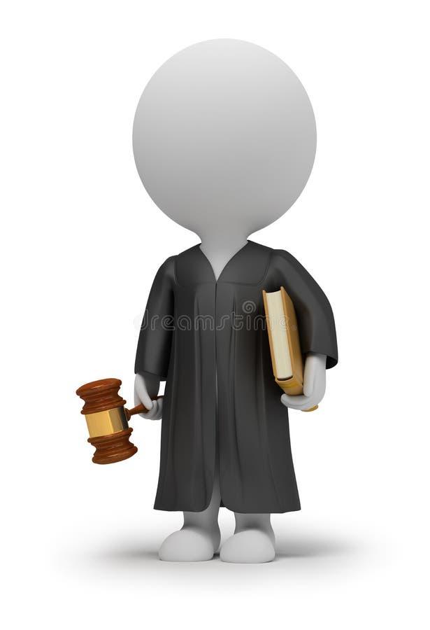 3d pequeña gente - juez ilustración del vector
