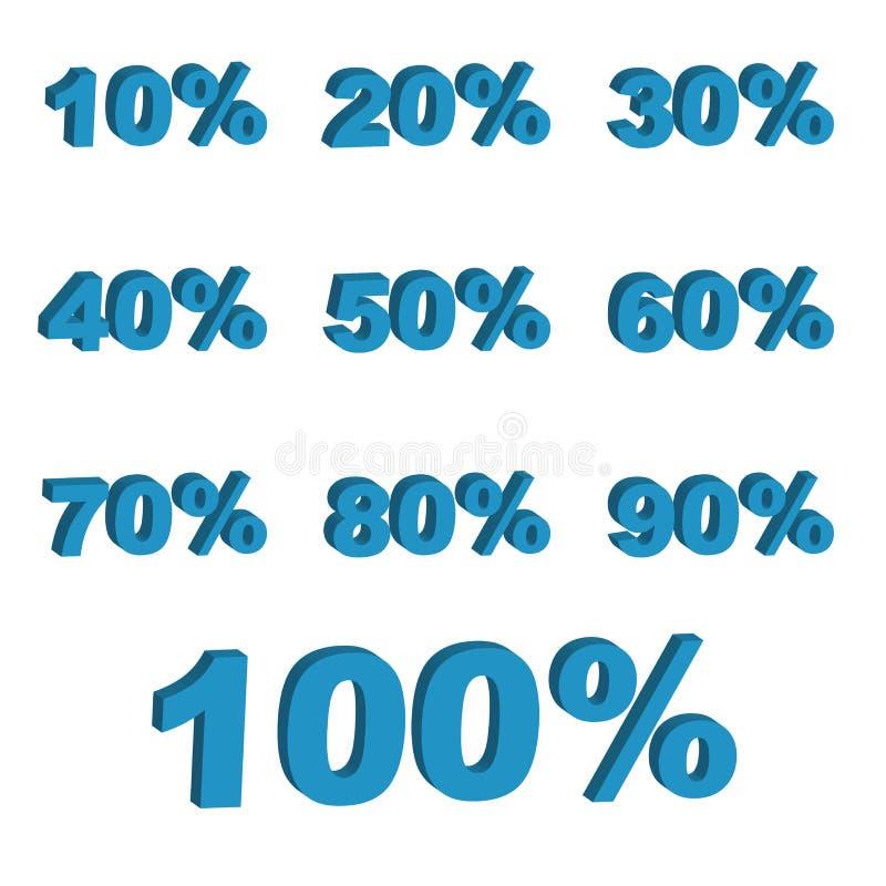 3D percentages stock illustratie