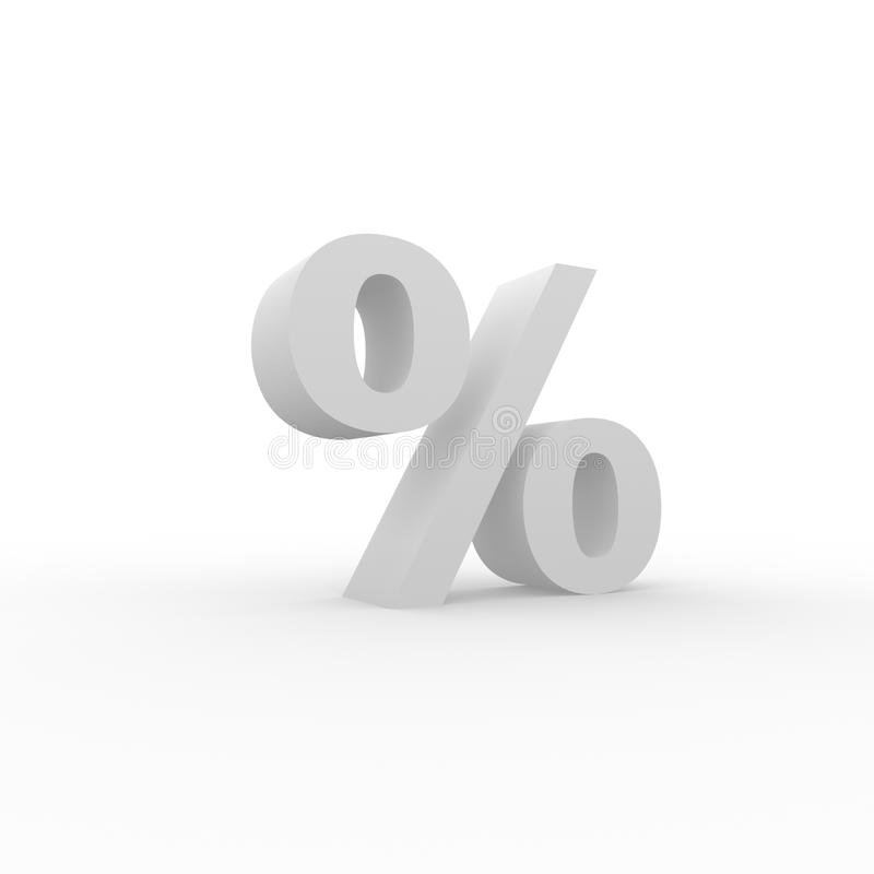 3D Percenten stock illustratie