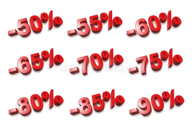 3D percentenaantallen - % royalty-vrije illustratie