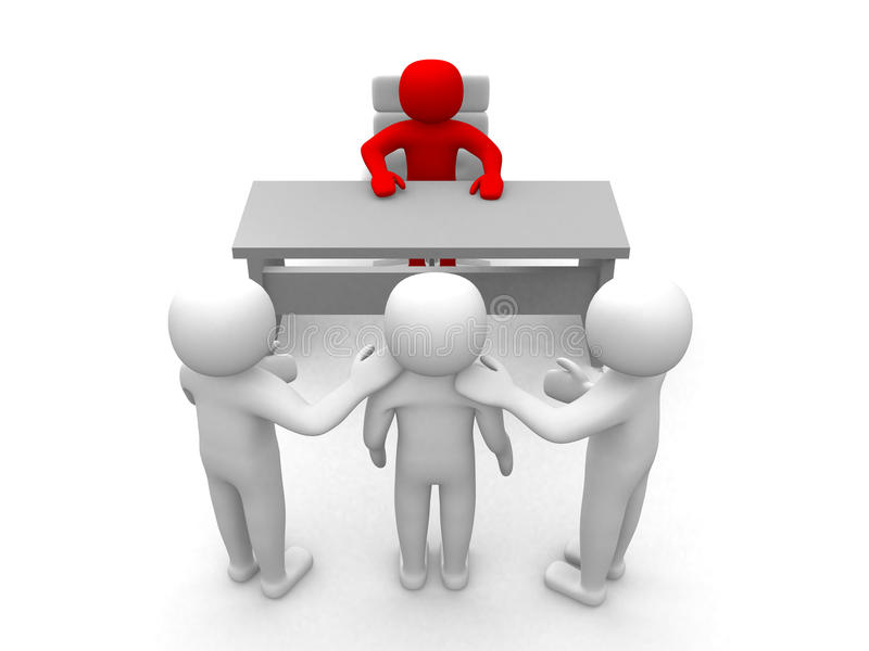 Download 3d Person - Congratulation In The Office Stock Illustration - Image: 23082941