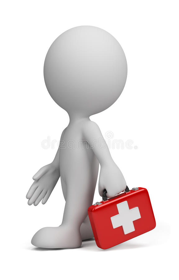 Download 3d person - doctor stock illustration. Image of person - 22898170