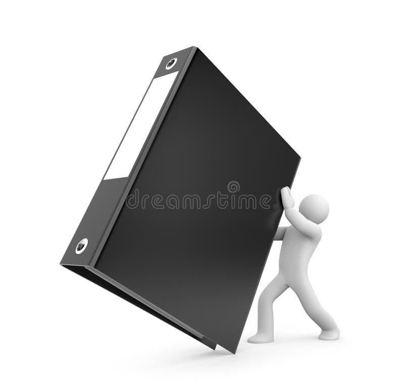 Download 3d person hold binder stock illustration. Image of order - 24200139