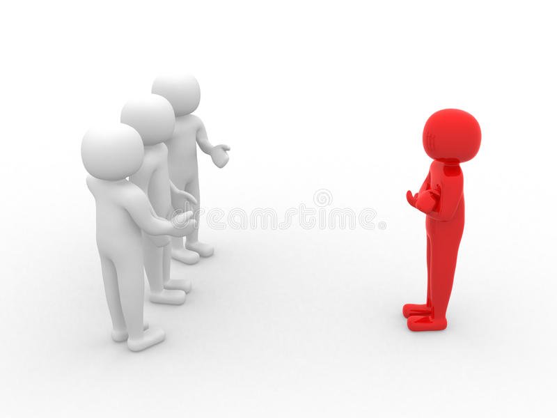 Download 3d Person Icon Leadership And Team Stock Illustration - Image: 23082945