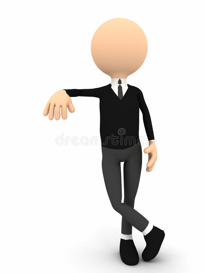 3d person leaning over white background royalty free illustration