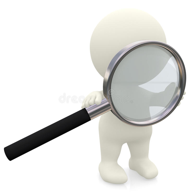 3D person with magnifier