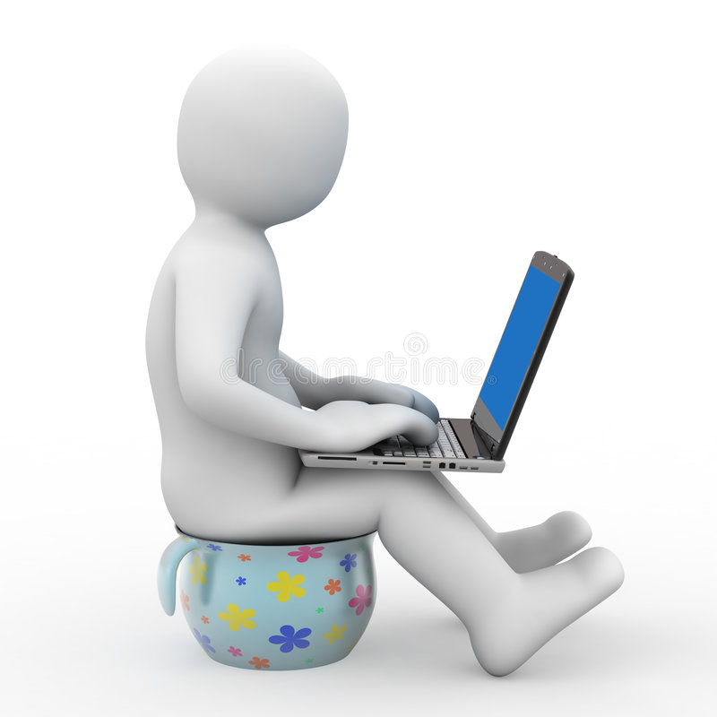 3d Person And Notebook Stock Photography