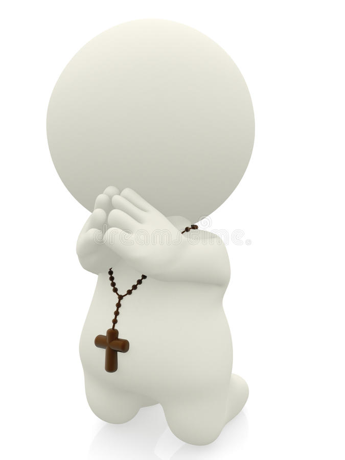 3D person praying