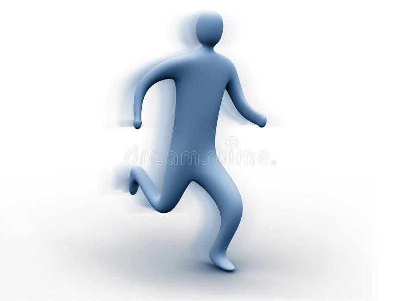 3d Person Running Stock Photos