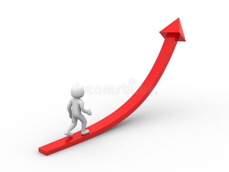Download 3d Person Running Toward Arrowhead Stock Illustration - Image: 22968070