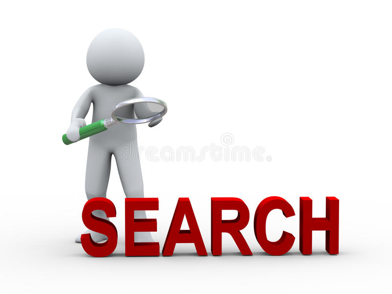 Download 3d Person Searching With Magnifier Glass Stock Illustration - Illustration of mark, person: 26964176