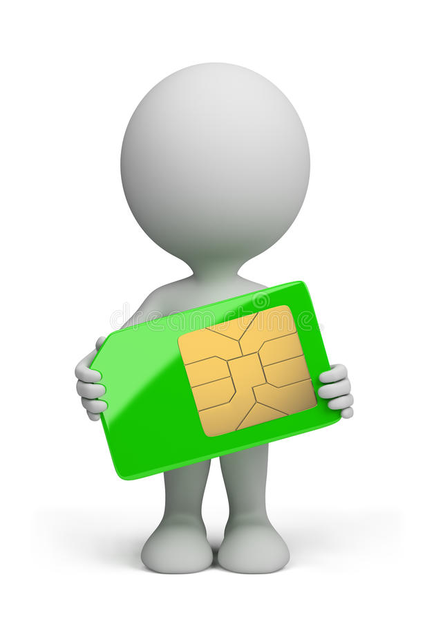 Download 3d Person - Sim Card Royalty Free Stock Image - Image: 25816716