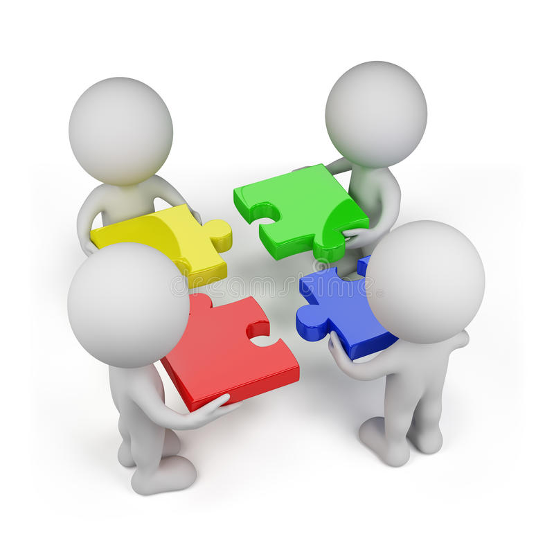 3d person teamwork with puzzles stock illustration jigsaw puzzles clip art jigsaw puzzle clip art free