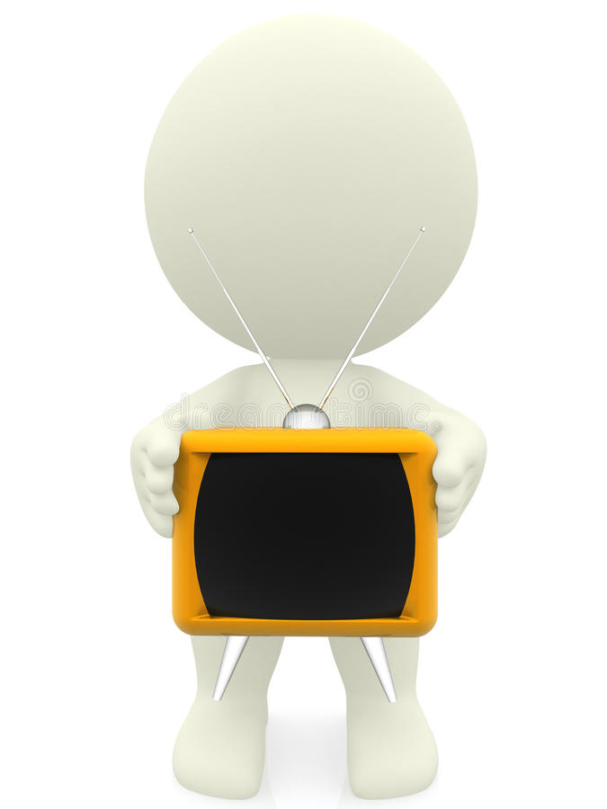 3D person with a tv