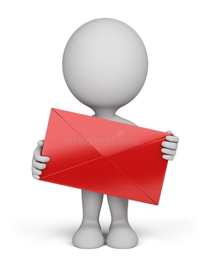 3d Person - Umschlag lizenzfreie abbildung