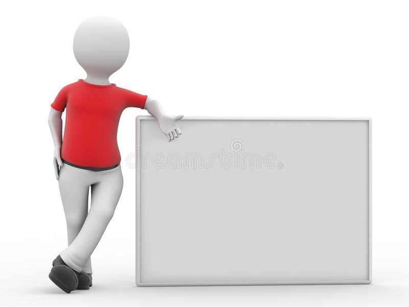 Download 3d Personage And Empty Form. Stock Image - Image: 9428311
