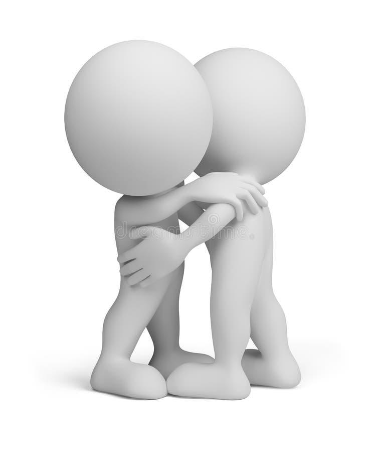 3d personne - étreinte amicale illustration libre de droits