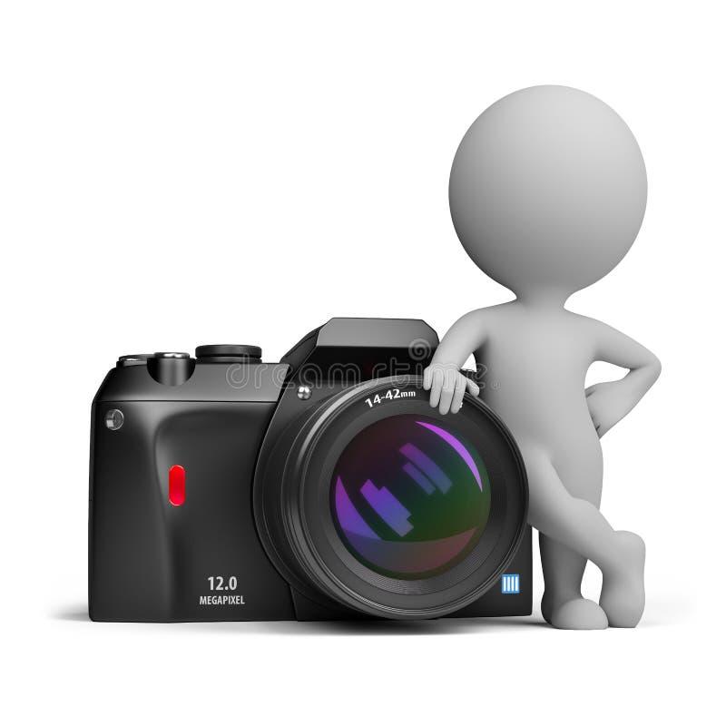 3d petits gens - appareil photo numérique illustration de vecteur