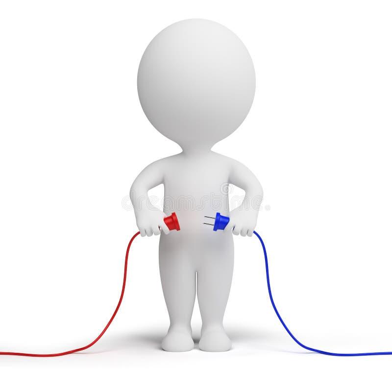 3d petits gens - connexion illustration libre de droits