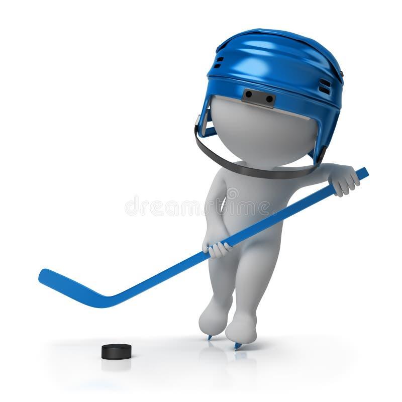 3d petits gens - hockey illustration de vecteur