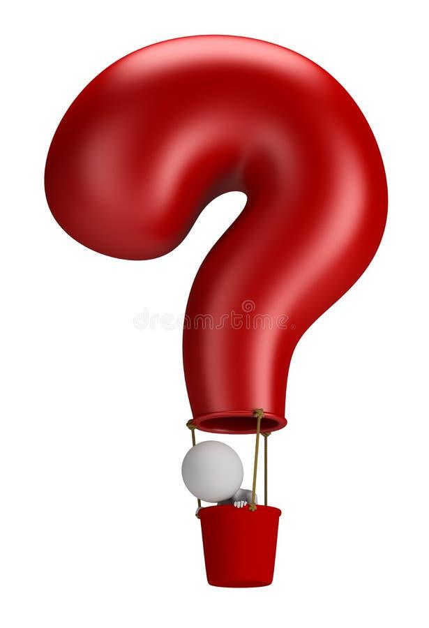 3d petits gens - question de ballon illustration stock