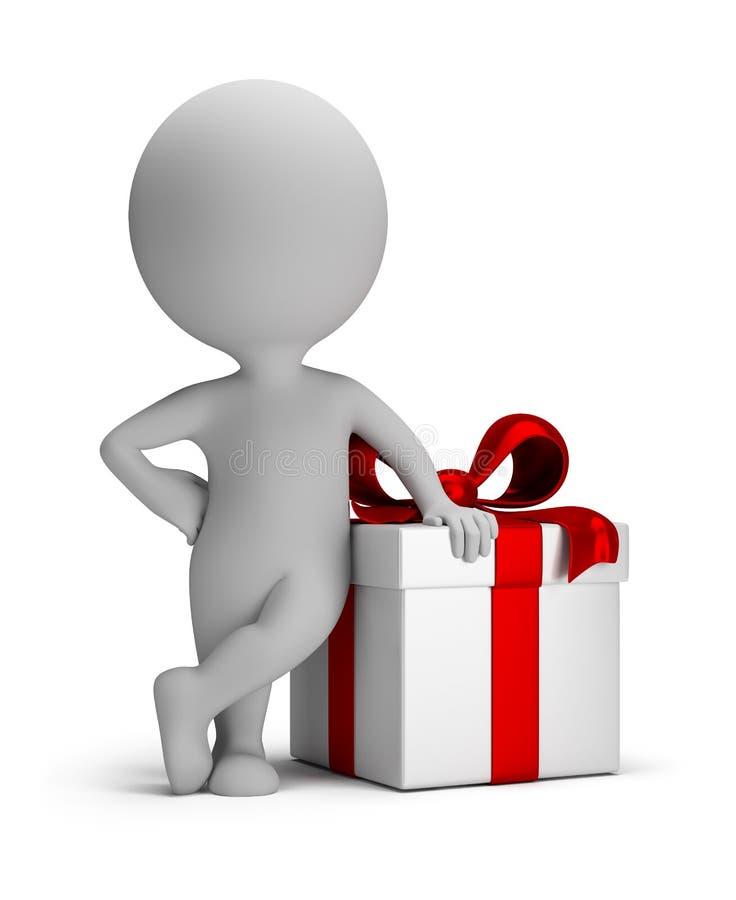 3d petits gens - votre cadeau illustration libre de droits
