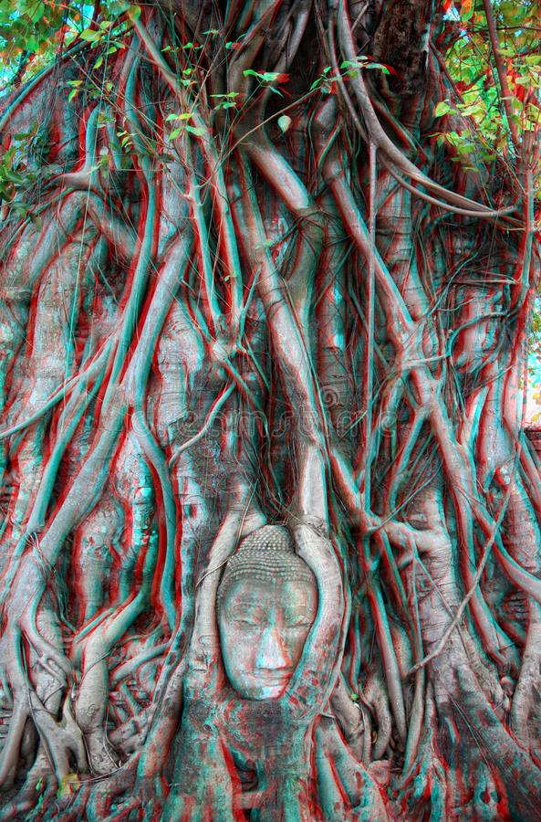 3d photo of engraving Buddha stock photo
