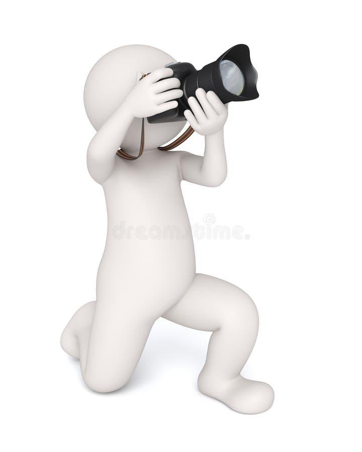 3d photographer stock illustration