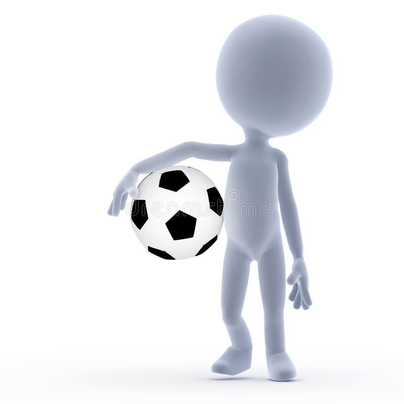 3d piłka nożna futbolowi karły ilustracja wektor