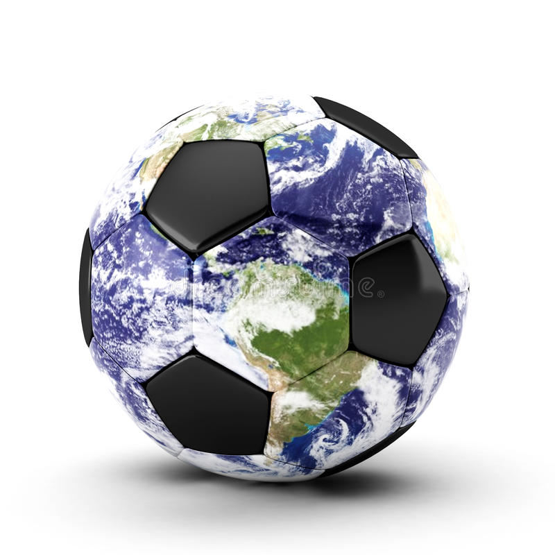 3d piłka odpłaca się piłka nożna biel royalty ilustracja