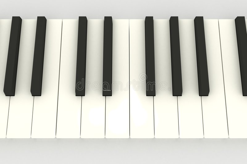 3D piano keyboard vector illustration