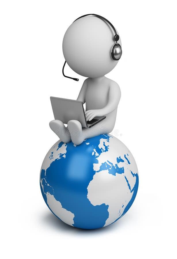 3d piccola gente - gestore globale illustrazione vettoriale