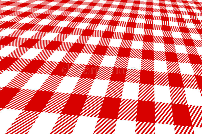 Download 3d Picnic Tablecloth Red And White Stock Illustration - Image: 18124666