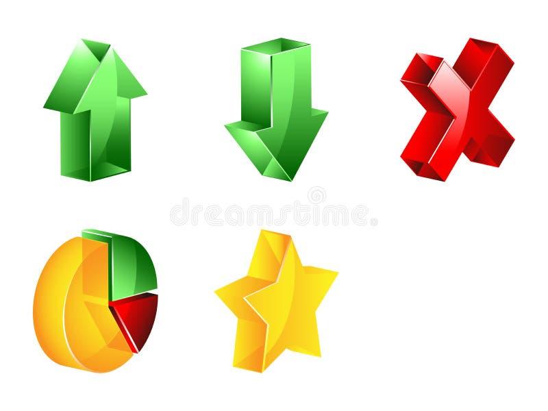 3D pictogram van beheer royalty-vrije illustratie
