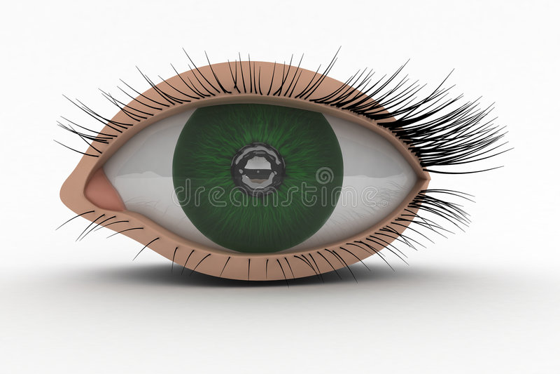 3D Pictogram van het Oog royalty-vrije stock afbeeldingen