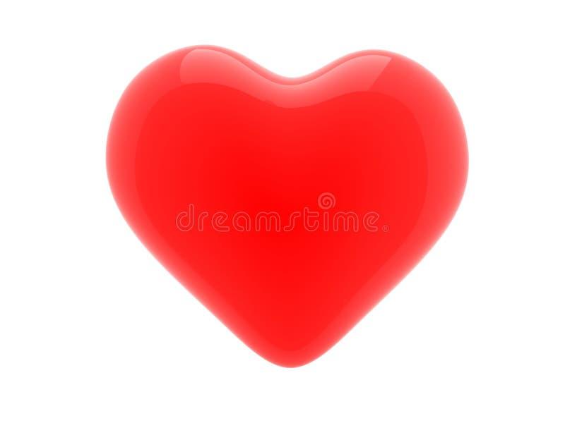 3d pictogram van rood hart stock foto's