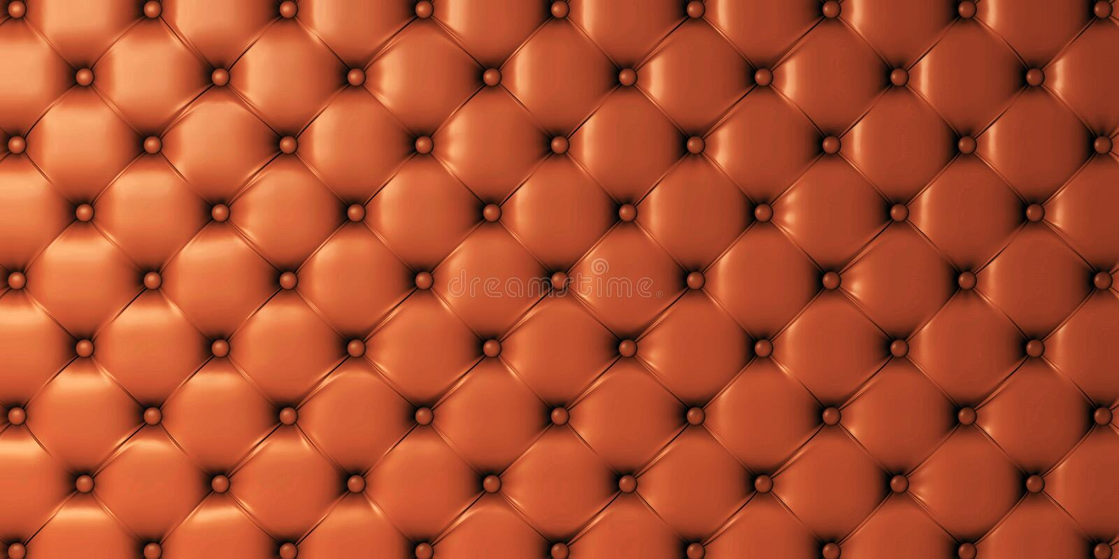 3d picture of genuine leather upholstery royalty free illustration